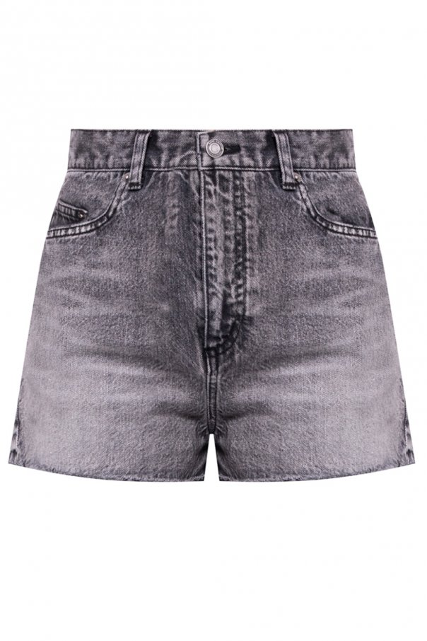 Saint Laurent Raw hem denim shorts