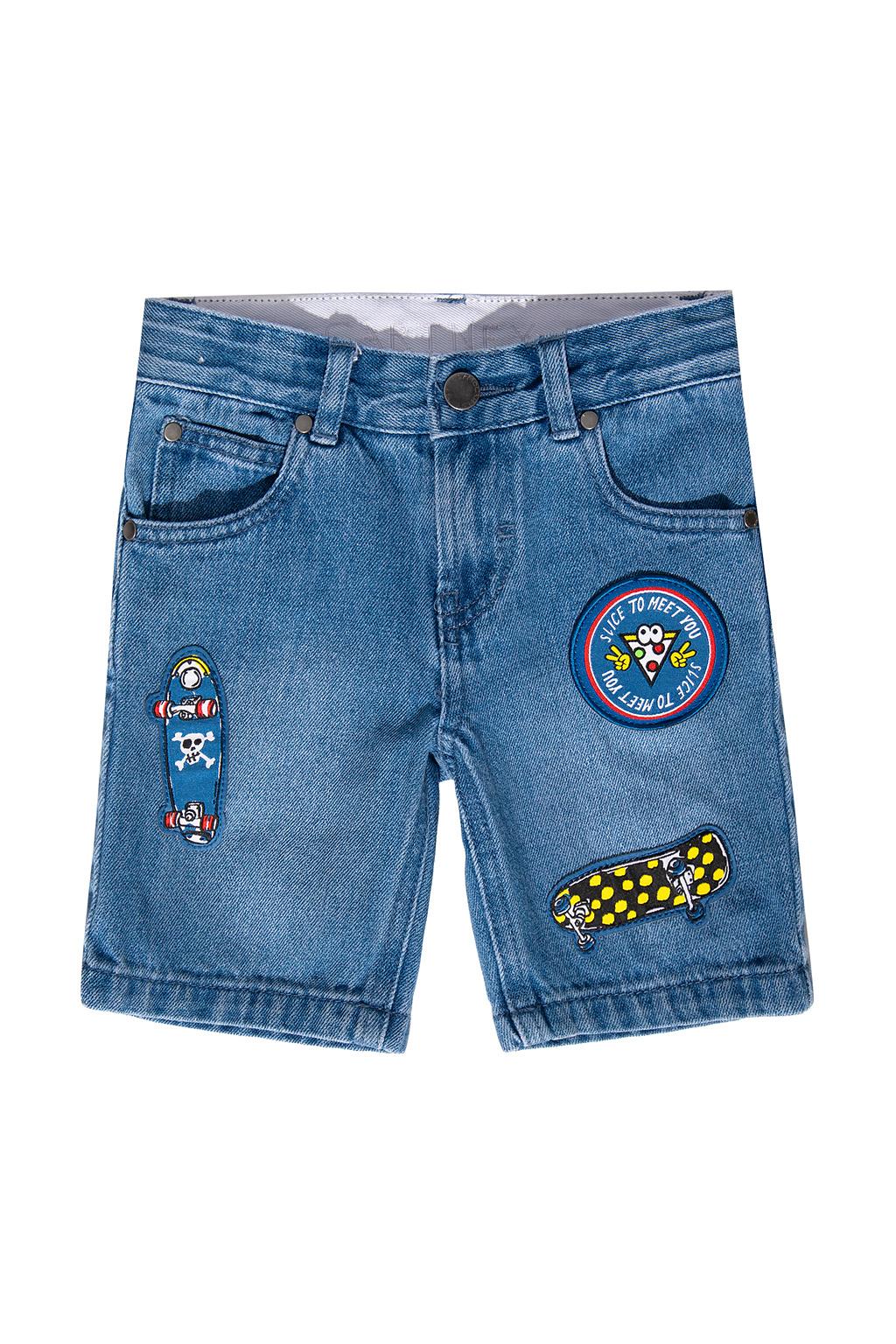 Stella McCartney Kids Jeansowe szorty z naszywkami