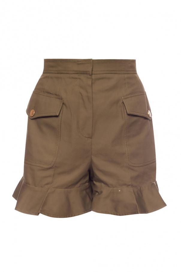 Alexander McQueen Frilled shorts