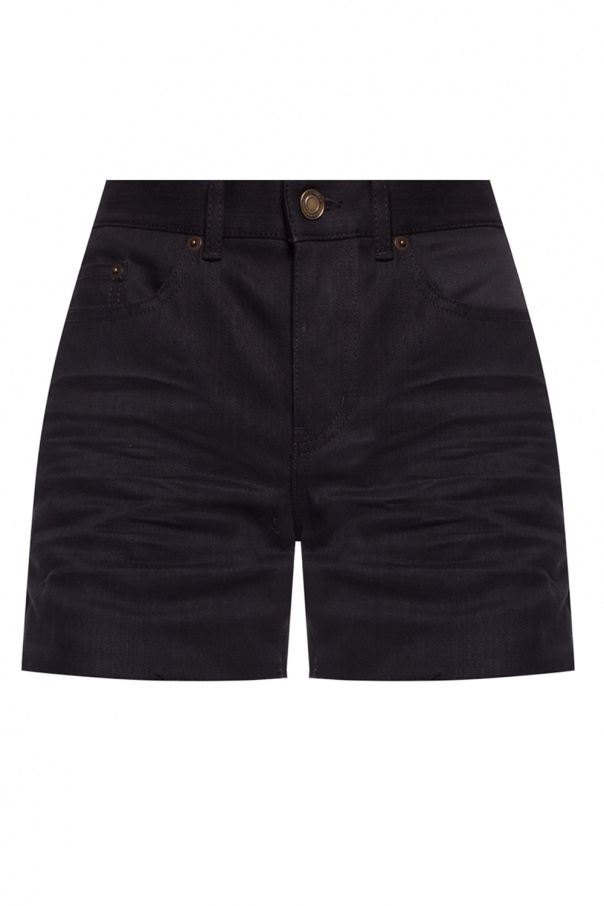 Saint Laurent Raw-trimmed shorts