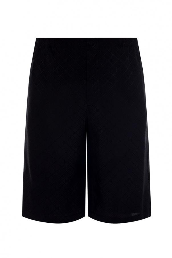 Gucci Silk shorts with logo