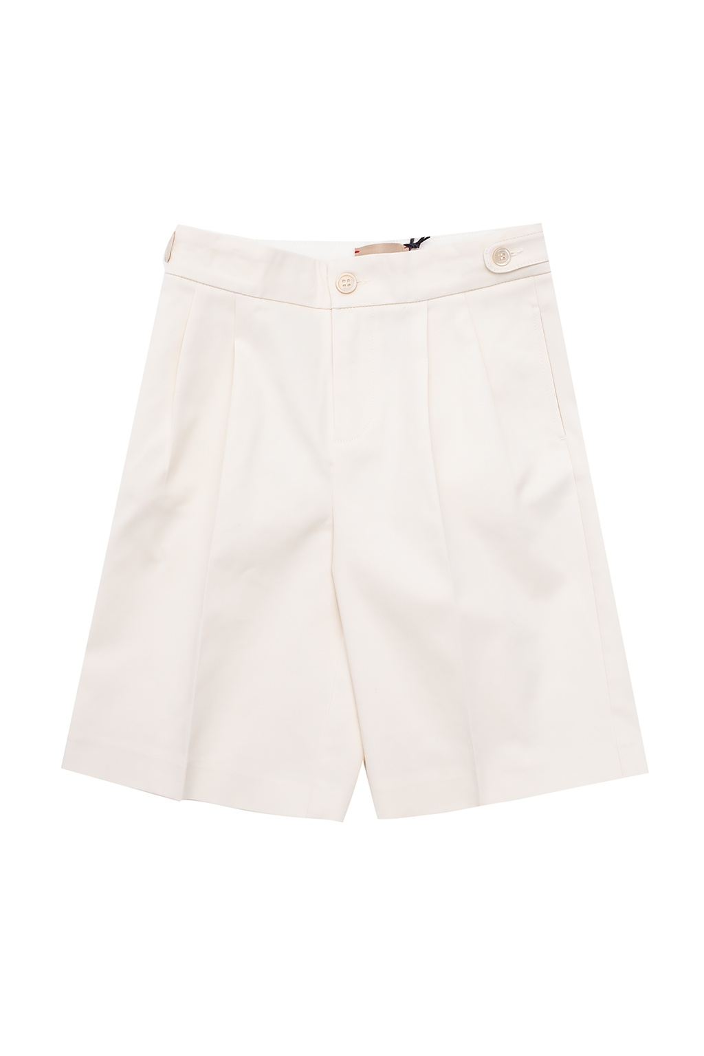 Gucci Kids Pleat-front shorts with logo