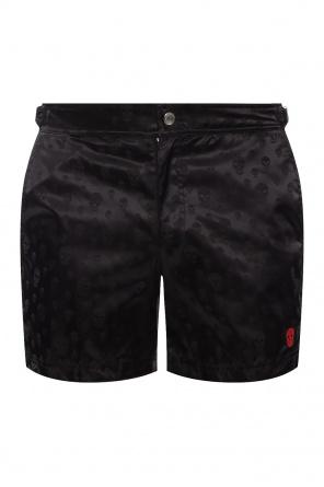 骷髅样式短裤 od Alexander McQueen
