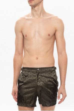 骷髅装饰短裤 od Alexander McQueen