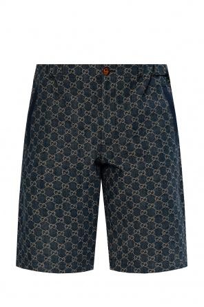 Denim shorts with logo od Gucci
