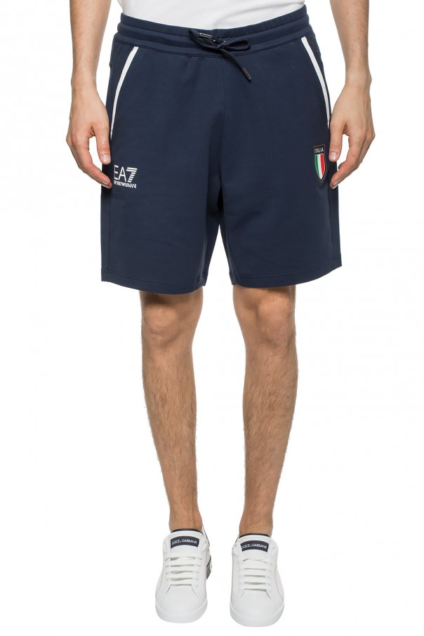 Printed sweat shorts od EA7 Emporio Armani