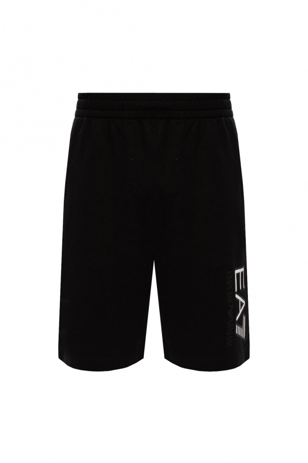 EA7 Emporio Armani Patterned sweat shorts