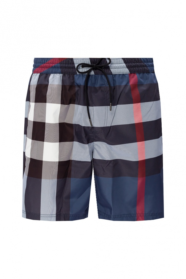 Burberry Checked swim shorts