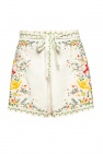 Zimmermann High-waisted linen shorts