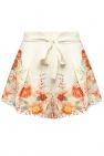 Zimmermann High-waisted linen shorts