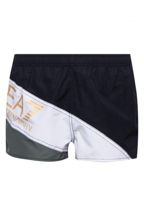 Logo-application swim shorts od EA7 Emporio Armani