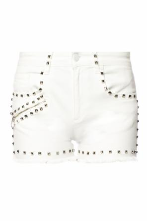Studded denim shorts od Versace Jeans