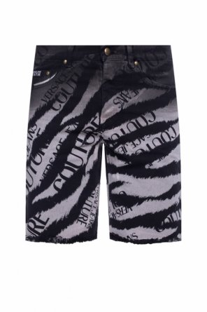 Denim shorts with logo od Versace Jeans Couture