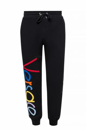Logo-embroidered sweatpants od Versace