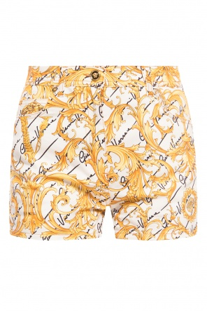 High-waisted shorts od Versace