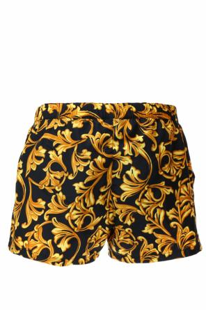 Baroque pattern swim shorts od Versace