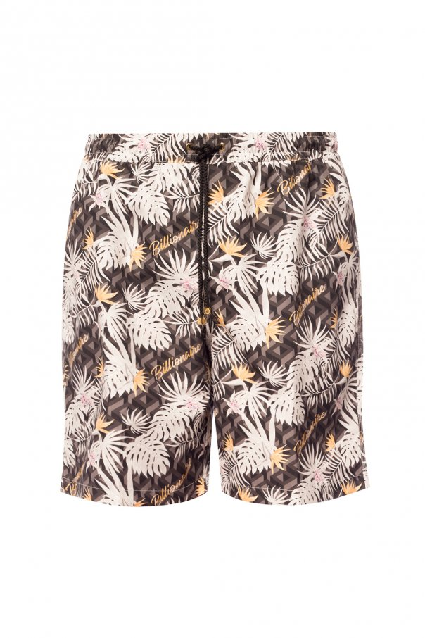 Billionaire Patterned swim shorts
