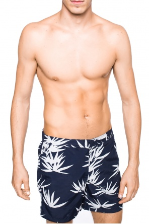 'bhutan' printed swimming shorts od AllSaints