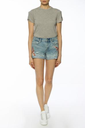 'birds' shorts with holes od AllSaints