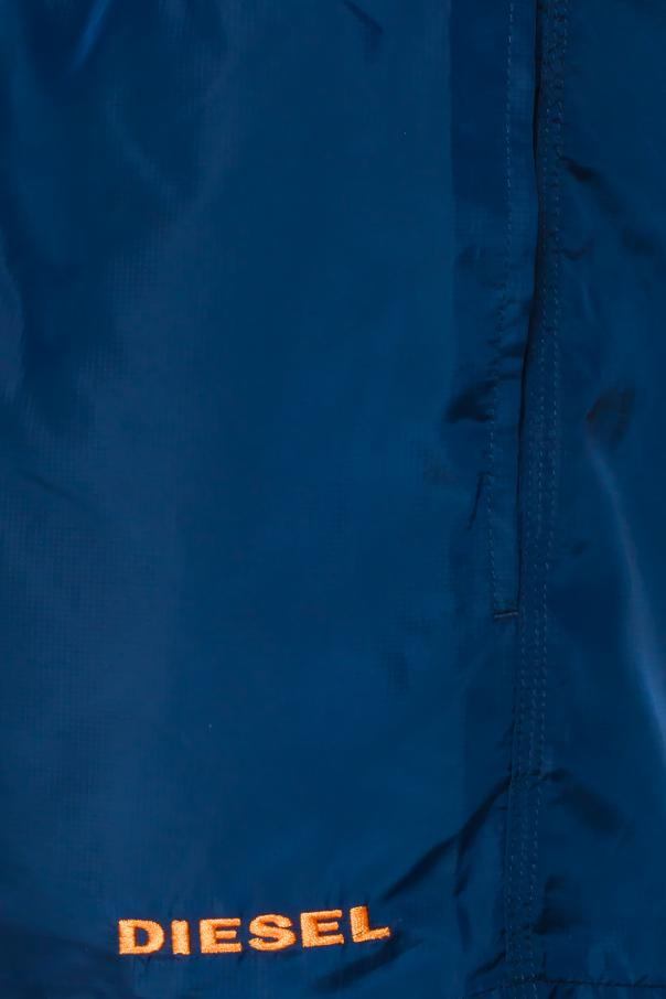 Logo-sewn swim shorts od Diesel