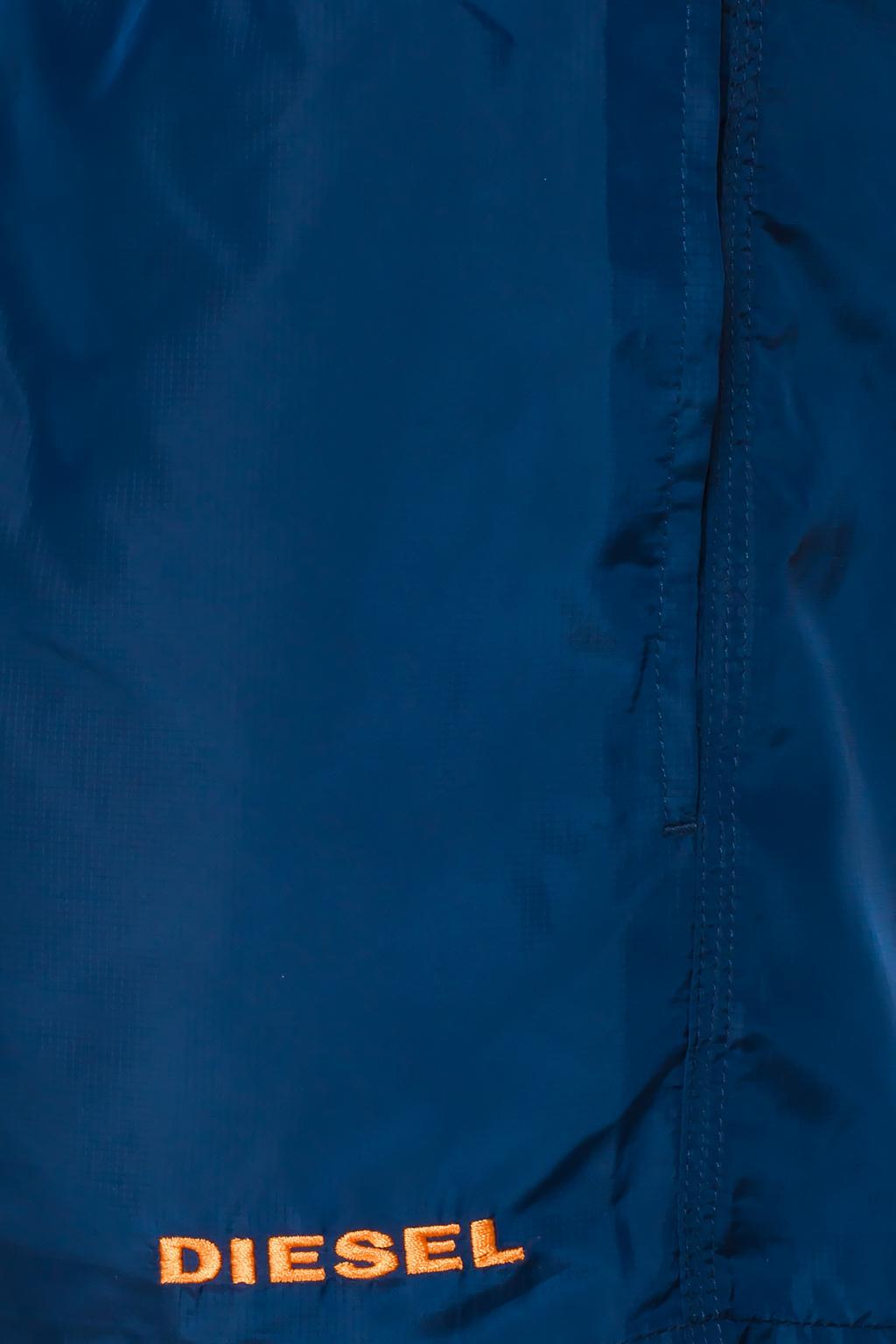Diesel Logo-sewn swim shorts
