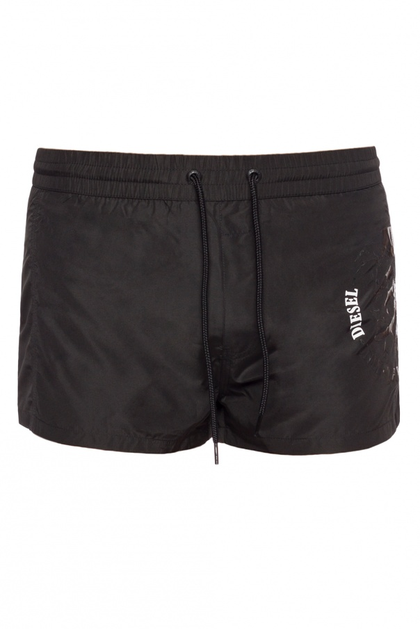 Diesel Logo-printed swim shorts
