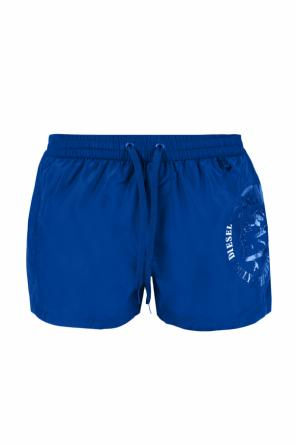Printed logo swimming shorts od Diesel