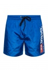 Logo-printed swimming shorts od Diesel