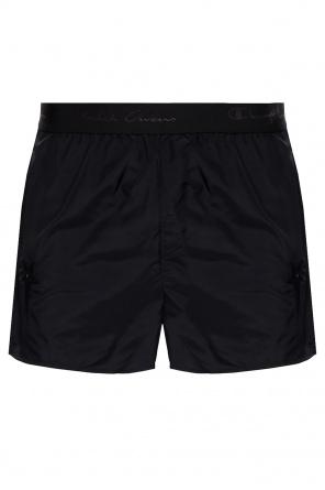 Track shorts with logo od Rick Owens