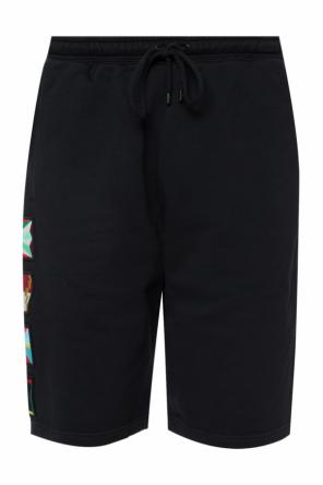 Patched sweat shorts od Marcelo Burlon