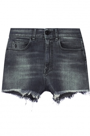 Raw-cut denim shorts od Marcelo Burlon
