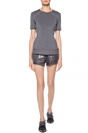 Double-layered shorts with logo od ADIDAS by Stella McCartney