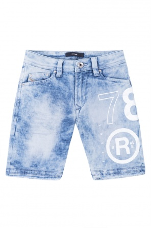 Printed denim shorts od Diesel