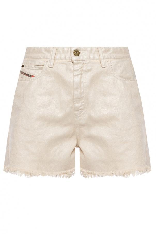 Diesel High-waisted denim shorts