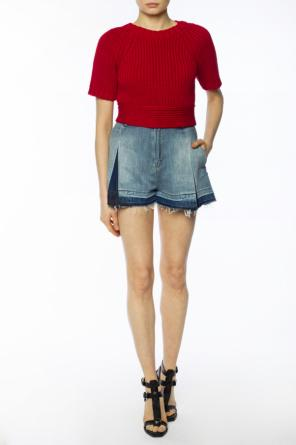 Pleated denim shorts od Diesel