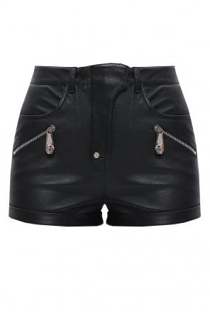 Leather shorts with logo od Philipp Plein