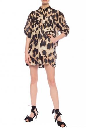 Leopard print shorts od Ganni