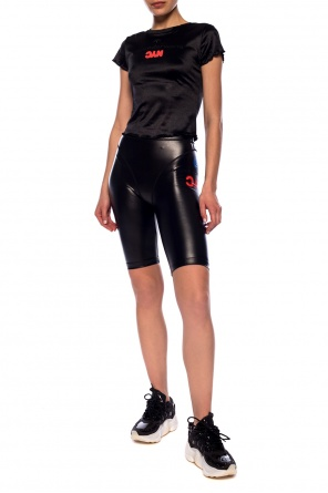 Cropped leggings with logo od ADIDAS by Alexander Wang