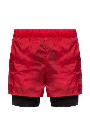 Logo-embroidered swimming shorts od Acne