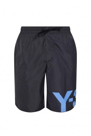 Szorty kąpielowe z logo od Y-3 Yohji Yamamoto