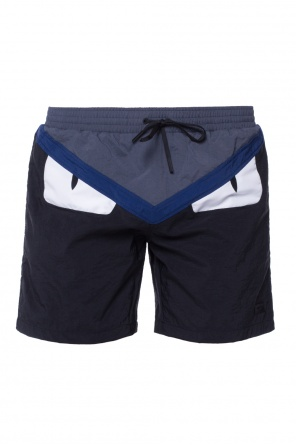 Eyes motif swimming shorts od Fendi
