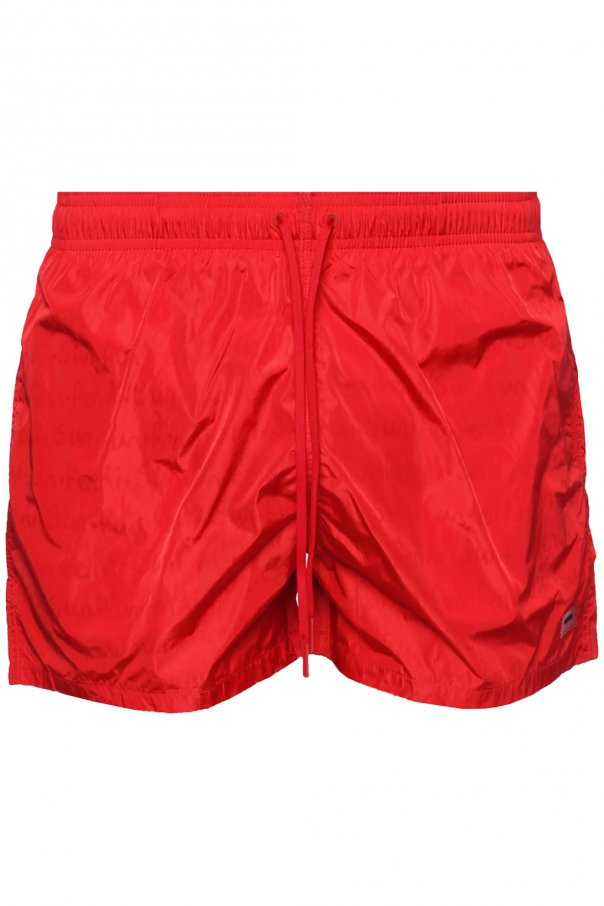 Fendi Patched swim shorts