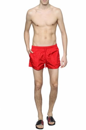 Patched swim shorts od Fendi