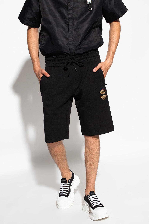 Dolce & Gabbana Szorty z wyszytym wzorem