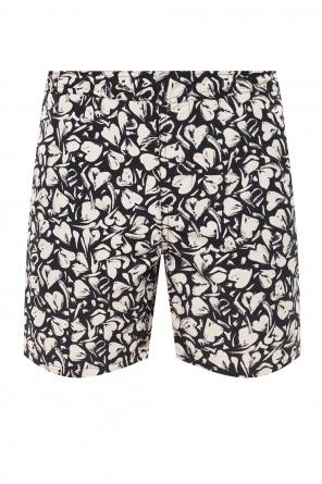 'heartbreak' patterned swim shorts od AllSaints