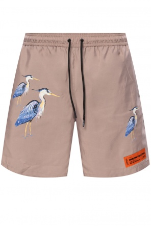 Branded swim shorts od Heron Preston