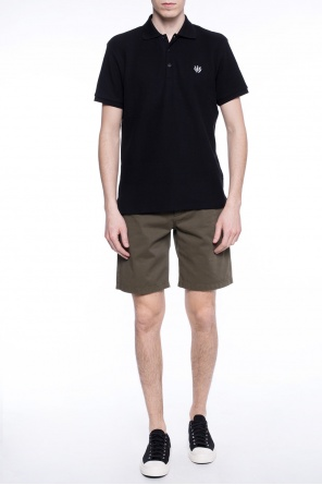 Logo-stitched shorts od Acne