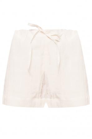 Linen shorts with logo od JIL SANDER+