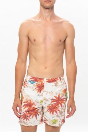'kanaloa' patterned shorts od AllSaints