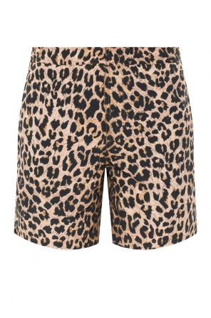 'leppo' shorts with leopard print od AllSaints